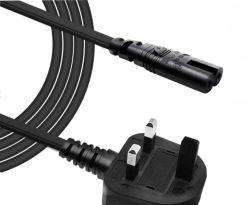 Reino Unido, Cable de alimentación a IEC C5 C7 13A con fusible de 250 V, secador de pelo El cable de alimentación UK
