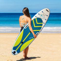 Fabricación personalizada de Sup hinchable carbono pala larga tabla de surf surf colorido