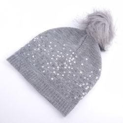 На заводе Custom зимний трикотаж универсальные детские Sequined Шляпы