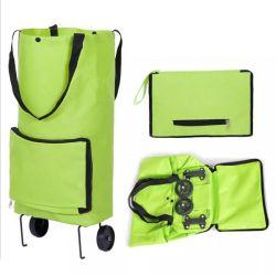 حقيبة تسوق متعددة الوظائف للتخزين القابل للطي عربة نقل عربة نقل طوو تروللى مع العجلات