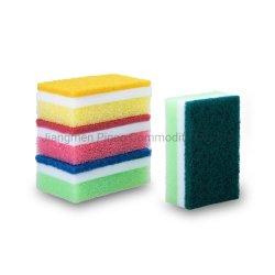 Кухонные губки из пеноматериала губки с абразивным покрытием губкой скруббер МОЙКА губкой для очистки