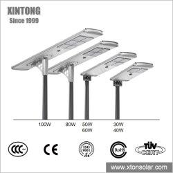 ISO9001 IP67 60W 80W 120W 150W 방수 LED 실외 OEM ODM 모두 하나의 통합형 태양열 정원 도로 거리에 있습니다 리튬 배터리 포함 표시등