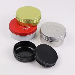 10ml vazio latas de alumínio pequenos redondos DIY Bálsamos jarros de alumínio preto mate de armazenamento