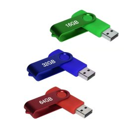 Haut débit 2GO USB2.0 4GB 8Go à 16 Go Lecteur Flash USB pivotant pour le stockage de données disque USB