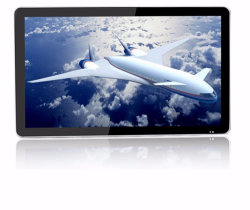 Publicidad de 55 pulgadas Monitor LCD de pantalla HD con pantalla táctil VGA WiFi en la pared Kiosk