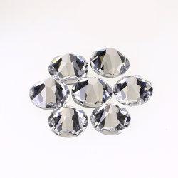 Rhinestone di cristallo rotondo di Hotfix della parte posteriore piana del AAA per il vestito da cerimonia nuziale