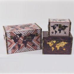 ヒンジのふたが付いているカスタム標準的で創造的な木箱の宝物箱