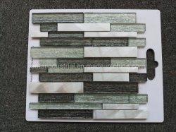 Mosaico di alluminio Mixed di vetro della striscia lunga per la decorazione del pavimento e della parete