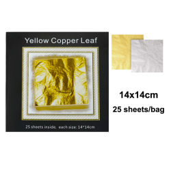 14X14 cm foglia di metallo dorato per artigianato e decorazione (FM04)