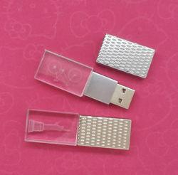 Специальный бизнес-подарок ультратонкий USB-накопитель с кристаллами