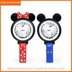 Mickey Minnie De draagbare Mini Vouwende Ventilator van de Ventilator met de LEIDENE Ventilator Rechagerable 3 van USB de Luchtkoeling van de Snelheid