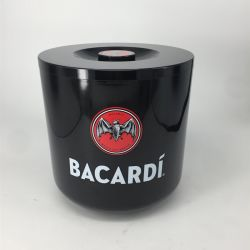 4L forma redonda BSCI plástico Premium Barware Parede dupla balde de gelo