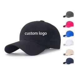 사용자 정의 인쇄 3D 자수 플레인 블랭크 폴리에스테르 블랙 6 패널 피팅맨 유니섹스 스포츠 야구 모자 여성용 모자 로고 사용