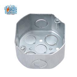 منفذ معدني معدني دائري ذو ثماني أضلاع في صندوق توصيل عملي
