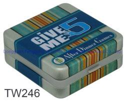정연한 봄 주석 상자 봄 경첩 게임 카드 선물 주석 상자를 가진 작은 주석 상자