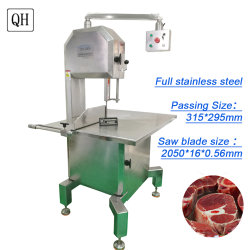 QH 2.2kw Bone SAW Machine Commercial Frozen Food Processor Trotter/Ribs/Fish/Beef 고기 밴드 톱 머신 버처 키친 도구 판매용 다지기 300kg/H