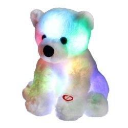 Cute conduit l'ours polaire douce lueur animal en peluche des jouets en peluche