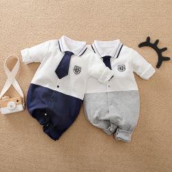 Venda por grosso bebê roupas da moda 100%Algodão Manga Longa com cintas Bonitinha Pajama bebê meninos romper
