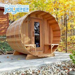 Joyee importados de mejor calidad tradicional de buena calidad de madera maciza Sauna al aire libre