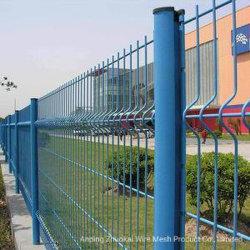 La alta calidad recubierto de PVC de alta seguridad de plegado en 3D de cerco de malla de alambre soldado