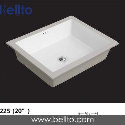 """Bellto 20"""" Undermount retangular elegante moderno vaidade Pia Lavatório de cerâmica de porcelana pia do banheiro (225)"""