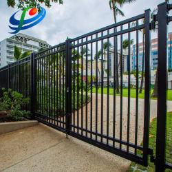 Commerce de gros de la porte en fer forgé en acier galvanisé/clôture/porte