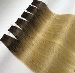 Nastro biadesivo Straight European Skin trama in Remy 100% Estensioni dei capelli umani della Malesia brasiliana indiana