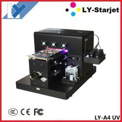 A4 a impressora plana UV para telefone caso, Cup, garrafa, bolas, caneta, Vela