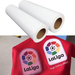 Imprimible de PVC de alta calidad PU Anti sublimación Vinilo de transferencia de calor Htv rollo de película para el logotipo de prendas textiles