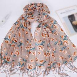 Textil Produktmaterial Digitaldruck Druck Imitierte Seide Baumwolle Schal