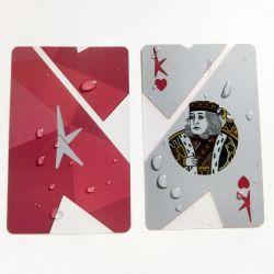 O logotipo personalizado de PVC transparente de 100%Plastic cartões virgens peças de jogo Cartão Poker jogando Cartas a Imprimir