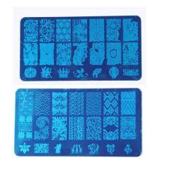 Nail Stamping grabado de placas de las galerías de imágenes para el diseño de uñas
