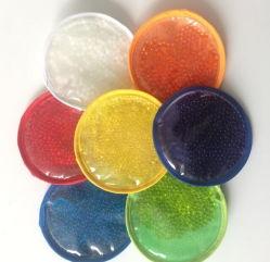 Hochwertige PVC-Plüschstoffe Wiederverwendbare runde Gelperlen Heiße Kalte Eispackung