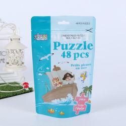 맞춤형 인쇄 PE 플라스틱 라미네이트 재밀봉 가능 스탠드업 파우치 지퍼 완구 퍼즐 패키지 가방