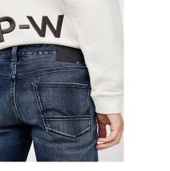 Зимние мужские вышивка хлопок брюки джинсы-стретч мужские брюки
