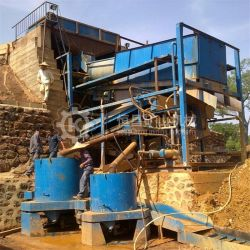 Stl20 Small Alluvial Gold Extracting Machine Gold Concentrator