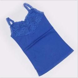 여성용 심리스 탑에는 Lace Sportswear Rib와 섹시한 스파게티 레이스 란제리 피트니스 탑