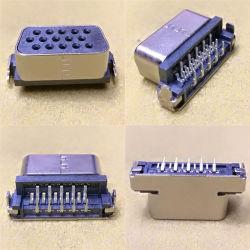 D-Sub, el conector 15POS, hembra, el 90° DIP, placa a placa, la caída de 2,5 mm de la junta