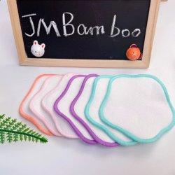 대나무 코튼 라운드와 세탁 가방, 친환경 페이셜 클렌징 와이프, 모든 종류의 피부를 위한 유기농 패드