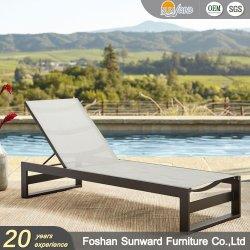 تخفيضات ساخنة بالجملة مخصصة منتجع فندق حمام السباحة في الهواء الطلق جانب الشاطئ الحديقة تخفيضات وقت الفراغ فناء ألومنيوم Textliene تنظيم الأسرة الشمسية