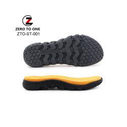 Los hombres al por mayor sandalias de diapositivas de EVA elástico alto Non-Slip Soles zapatilla Playa suelas de goma EVA