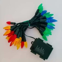 Lampada a corda a LED C6 G15 alimentata a batteria con telecomando