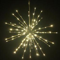 Batería Starbrust decoración luz LED de fuegos artificiales en el exterior de la luz de Navidad de la cadena de hadas LED