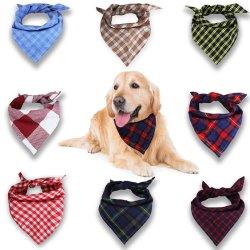 Van het Katoenen van de Controle van Sedex de Promotie van de Katoenen Af:drukken van de Driehoek Hond Bandana van de Kat Sjaal van het Huisdier