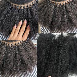 30-дюймовый 2PCS/много выходцев из Kinky вьющихся волос человека 4b 4c I Совет Microlinks бразильского Virgin расширений волос основную часть волос черный цвет для женщин