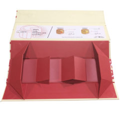 Mooncakeのタイの食糧キャンデーのビスケットの包装のペーパーギフト用の箱を折るカスタム堅いボール紙