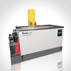 Produto de limpeza por ultra-sons de controlo PLC com tampa Pneumática