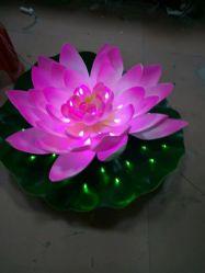 Lirio de Agua flotante LED decoración luz Lotus