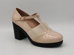 Cabeza redonda y de moda casual zapatos cómodos brillante con zapatos cerrados