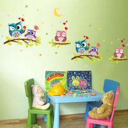 子供部屋のための取り外し可能なPVC動物の漫画のフクロウの壁のステッカー